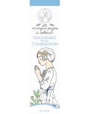 Souvenirs de ma communion Les marque pages à colorier
